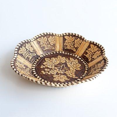 ベレスタ / 白樺の器 / ぶどう柄