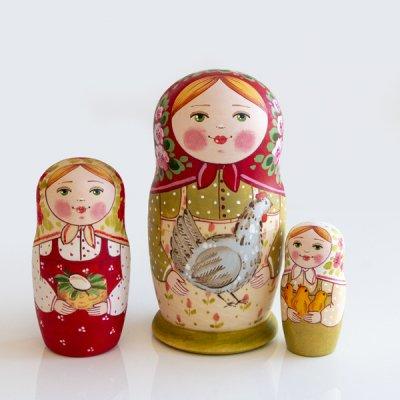 マトリョーシカ / お人形 / 3pieces / エレーナ・イヴァンツォーヴァ作