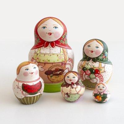 マトリョーシカ / きのこ / 5pieces / エレーナ・イヴァンツォーヴァ作