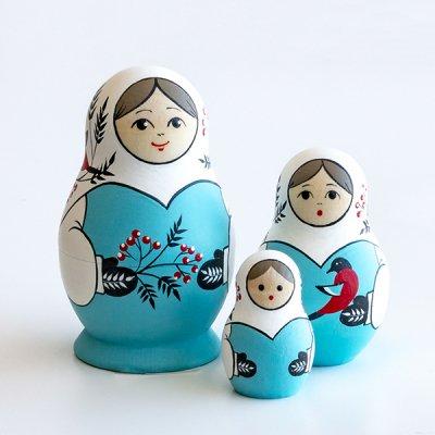 クリスマスマトリョーシカ / ナナカマド / 3pieces