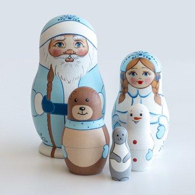 クリスマスマトリョーシカ / サンタクロース / 5pieces  / A