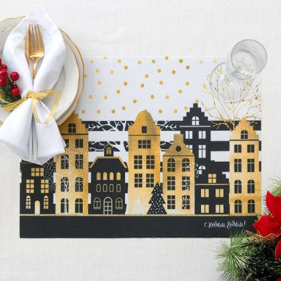ランチョンマット / クリスマスの街