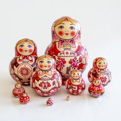マトリョーシカ / サモワール / ローズ / 10pieces / ナデェージダ・イヴァンツォーヴァ作