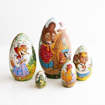 マトリョーシカ / ロシア民話 / 5pieces / エレーナ・イヴァンツォーヴァ作
