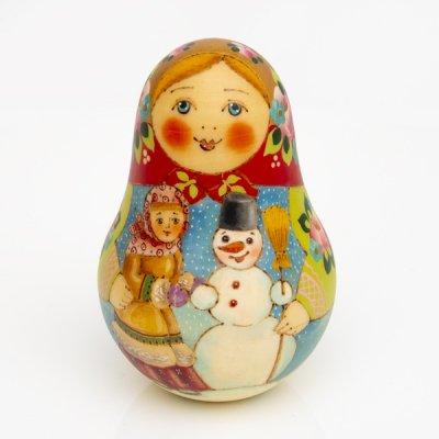 ネヴァリャーシカ (小)/ 雪だるまと子ども