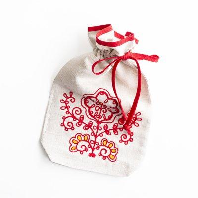 アルハンゲリスク刺繍小さな布袋