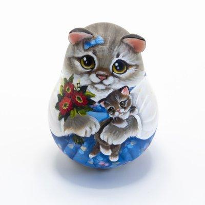 ネヴァリャーシカ / 子猫と花束 / スヴェトラーナ・ニコラエヴァ作