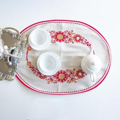 アルハンゲリスク刺繍テーブルマット / オーバル