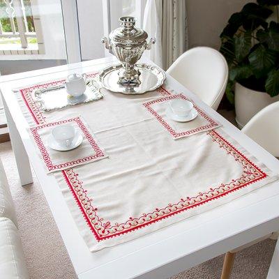 アルハンゲリスク刺繍テーブルクロスセット
