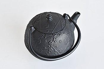 鉄瓶 瓜型小紋梅1L