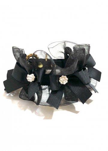 Furi Furi Organdy Small Ribbon Black * フリフリ オーガンジー スモール リボン ブラック *