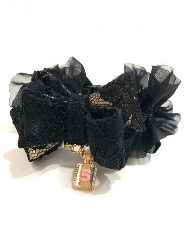 Black Lacy Ribbon * ブラック レイシー リボン *