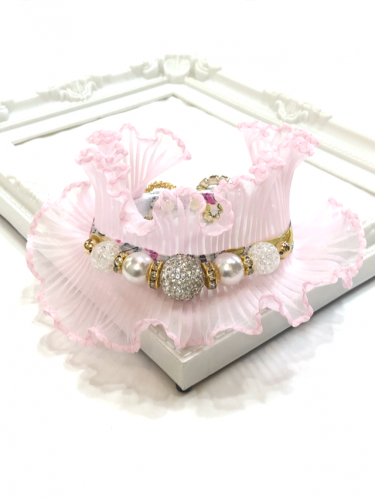 Yellow Liberty Pink Ruffle * イエロー リバティ ピンク ラッフル*