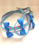 <img class='new_mark_img1' src='https://img.shop-pro.jp/img/new/icons1.gif' style='border:none;display:inline;margin:0px;padding:0px;width:auto;' />Pretty Dots Aqua with triple ribbon * プリティー ドット アクア ウィズ トリプル リボン *