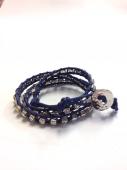 Wrap Bracelet navy * ブレスレット * ネイビー * *