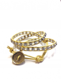 <img class='new_mark_img1' src='https://img.shop-pro.jp/img/new/icons1.gif' style='border:none;display:inline;margin:0px;padding:0px;width:auto;' />Wrap Bracelet gold * ラップブレス * ゴールド * *