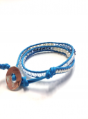 <img class='new_mark_img1' src='https://img.shop-pro.jp/img/new/icons1.gif' style='border:none;display:inline;margin:0px;padding:0px;width:auto;' />Wrap Bracelet turquoise blue * ラップブレス * ターコイズブルー * *