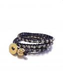 Wrap Bracelet black * ラップブレス * ブラック * *