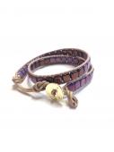 Wrap Bracelet square purple * ラップブレス * スクエア パープル* *
