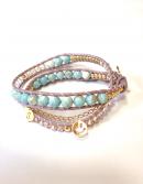 Initial Wrap Bracelet turquoise * イニシャル ラップブレス * ターコイズ * *
