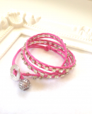 <img class='new_mark_img1' src='//img.shop-pro.jp/img/new/icons1.gif' style='border:none;display:inline;margin:0px;padding:0px;width:auto;' />Wrap Bracelet  pink * ラップブレス * ピンク *