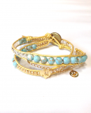 <img class='new_mark_img1' src='//img.shop-pro.jp/img/new/icons1.gif' style='border:none;display:inline;margin:0px;padding:0px;width:auto;' />Initial Wrap Bracelet * gold cord * * イニシャル ラップブレス * ゴールドコード * *