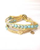 Initial Wrap Bracelet * gold cord * * イニシャル ラップブレス * ゴールドコード * *