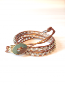 <img class='new_mark_img1' src='//img.shop-pro.jp/img/new/icons1.gif' style='border:none;display:inline;margin:0px;padding:0px;width:auto;' />Wrap Bracelet metallic gold * ブレスレット * メタリックゴールド * *