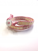 Wrap Bracelet square pink * ラップブレス * スクエア * ピンク * *