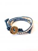Wrap Bracelet khaki * ラップブレス * カーキ * *
