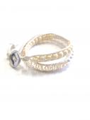 Wrap Bracelet wood style white * ブレスレット * ウッドスタイル ホワイト * *