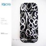 【IQOS本体キット込み】アイコス IQOS 電子タバコ デコ スワロフスキー キラキラ  数字 マルチナンバー ブラックダイヤ デザイン