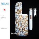 【スペシャルセット】アイコス IQOS 電子タバコ デコ スワロフスキー キラキラ  数字 マルチナンバー ゴールドデザイン