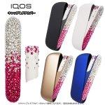 【2点セット】IQOS3 ドアカバーとキャップ ウォームホワイト ピンク&クリスタル グラデーション