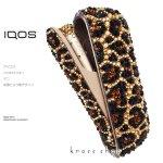 【3点セット新型IQOS3ケース ドアカバー キャップ】豹柄デザイン