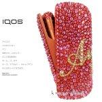 【3点セット新型IQOS3ケース ドアカバー キャップ】ウォームカッパー 名入れ イニシャル ネーム ピンク&ゴールド