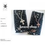 【全機種対応】セット販売ネックレスモチーフ(ピンクゴールド&クリスタル)
