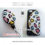 【全機種対応】iPhone、スマホ専用デコカバー 豹柄シャーベットカラー セット