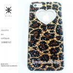キャンペーン中につき全機種が表示価格で制作!iPhone ケース スワロフスキー 豹柄(ハート、サイド、クリスタル)