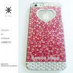 キャンペーン中につき全機種が表示価格で制作!iPhone ケース スワロフスキー ピンク系ランダム