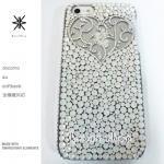 キャンペーン中につき全機種が表示価格で制作!iPhone ケース スワロフスキー アンティークハート(クリスタル)