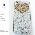 キャンペーン中につき全機種が表示価格で制作!iPhone ケース スワロフスキー アンティークハート(ハート&サイド、ゴールド)