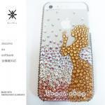 このサイト限定!キャンペーン中につき全機種が表示価格で制作!iPhone ケース スワロフスキー プリンセス&リンゴ(グラデーション)