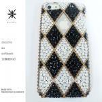 キャンペーン中につき全機種が表示価格で制作!iPhone ケース スワロフスキー ダイヤブロック(サイド、ライン、ゴールド)