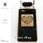 iPhone専用 香水型 デコ カバー ケース -アンティークハート-