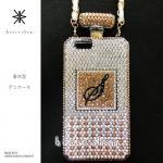 iPhone専用 香水型 カバー ケース -香水残量3分の1(ゴールド、オーロラ、クリスタル)-
