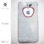 キャンペーン中につき全機種が表示価格で制作!iPhone ケース スワロフスキー アップル in アップル(ホワイトベース)