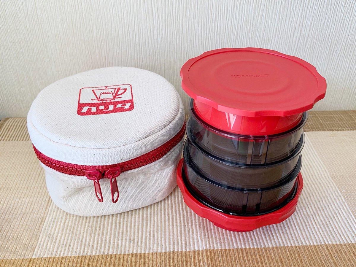 カリタ・プレスコーヒーメーカー KOMPACT(赤)