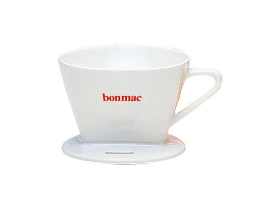 Bonmac 陶器コーヒードリッパー(ホワイト)2〜4杯用<img class='new_mark_img2' src='//img.shop-pro.jp/img/new/icons1.gif' style='border:none;display:inline;margin:0px;padding:0px;width:auto;' />
