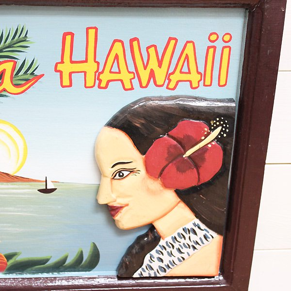 <img class='new_mark_img1' src='https://img.shop-pro.jp/img/new/icons1.gif' style='border:none;display:inline;margin:0px;padding:0px;width:auto;' />【ハワイアン雑貨】フラガールアート Aloha Hawaii